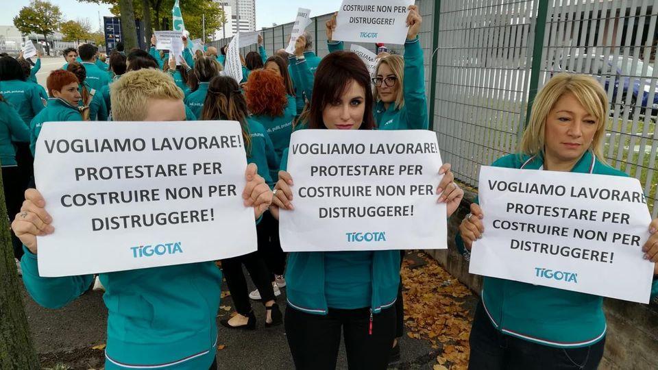 Sciopero Tigotà, lavoratori contro