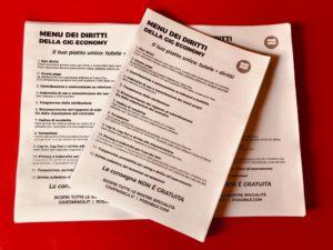 Il menu dei diritti del 1 Maggio