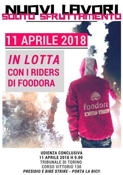 11 Aprile, processo a Foodora